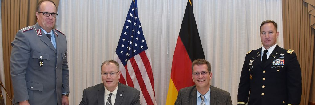 U.S. and German Defense Officials Sign Marshall Center Agreement Strengthening German-American Partnership