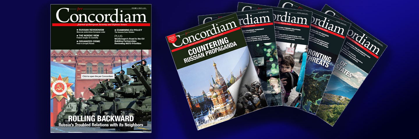 A photograph of per concordiam magazines.