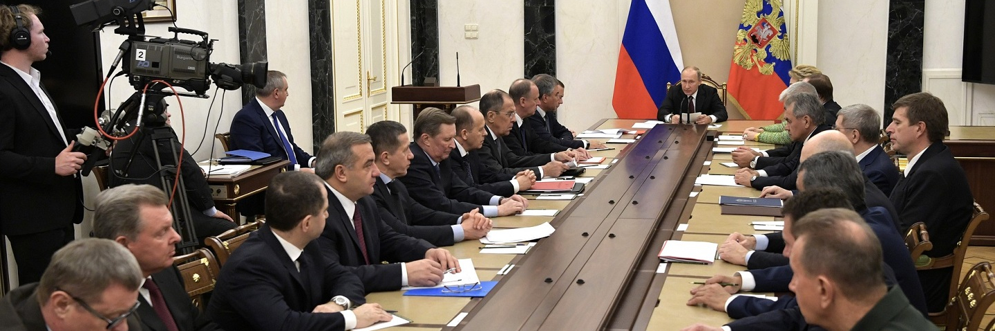 Security Council meeting Vladimir Putin chaired an extended meeting of the Security Council at the Kremlin, October 26, 2017. The participants discussed matters related to the protection of the state information infrastructure and measures on its development.