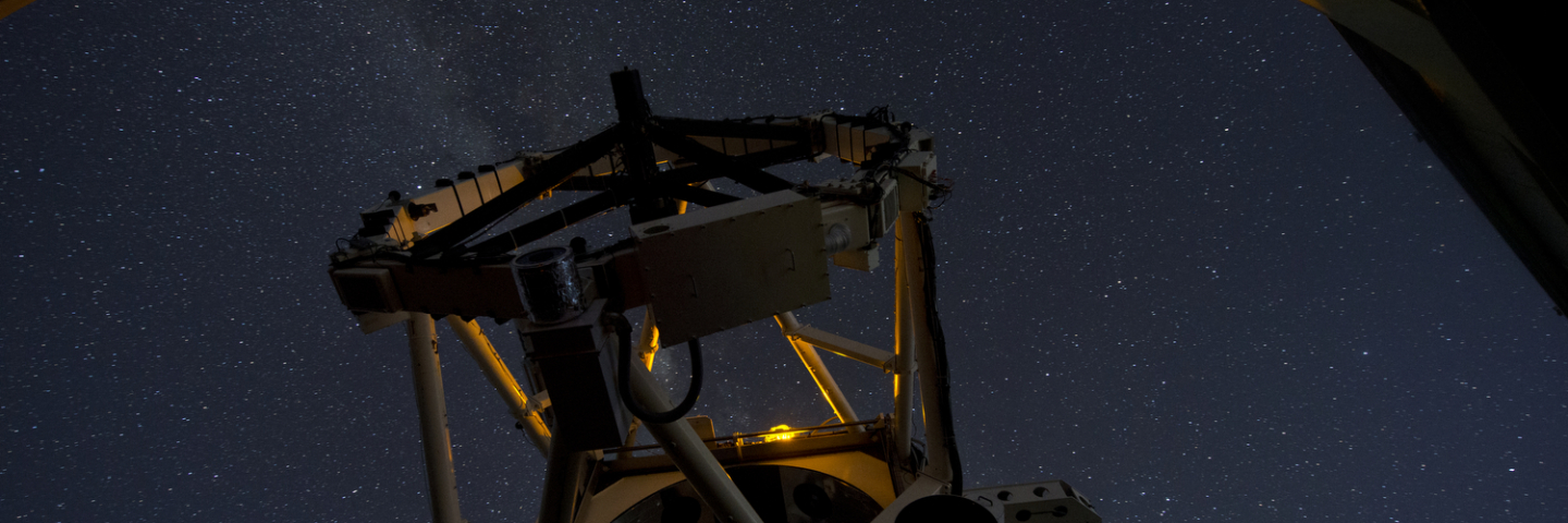 The 3.67-meter, 75-ton Advanced Electro-Optical System telescope is the largest telescope in the Department of Defense used for satellite tracking. The telescope moves fast enough to track low-Earth objects such as satellites and missiles, while also tracking man-made objects in deep space and performing space object identification data collection. (U.S. Air Force photo/Tech. Sgt. Bennie J. Davis III)