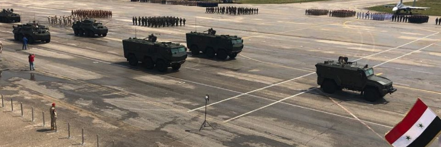 Military parade in Khmeimim airbase marks 73rd anniversary of Victory in Great Patriotic War, May 9, 2018.