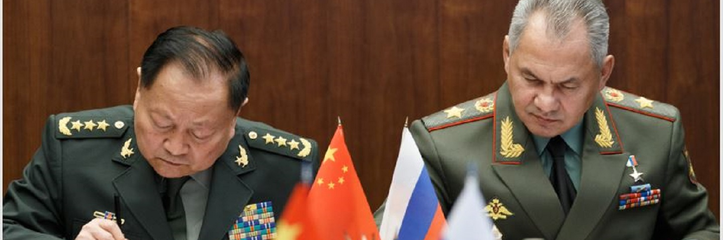 The Russian Defence Minister General of the Army Sergei Shoigu held talks with General Zhang Youxia, Vice Chairman of the Central Military Commission of the People's Republic of China.
