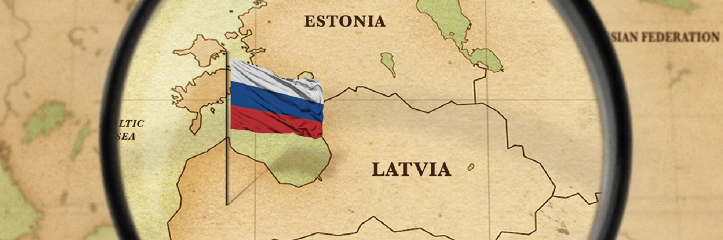 A graphic of a map showing Latvia, Lithuania and Estonia.