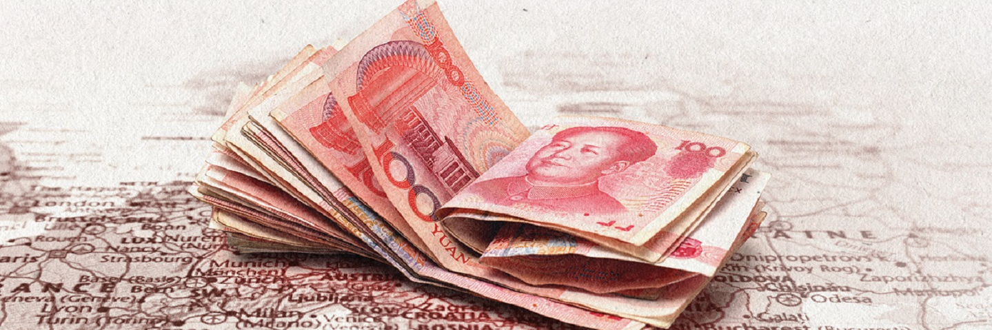 Chinese Money on a map