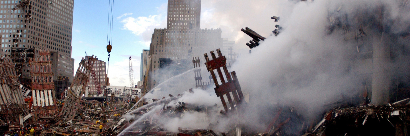 destruction at twin towers