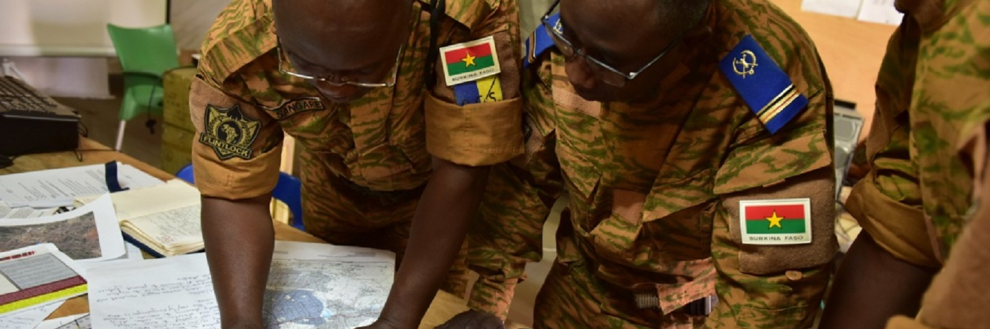 Burkina Faso Army leadership conduct operational planning during exercise Flintlock 19.