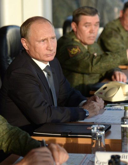 Photo of Vladimir Putin at Donguzskij