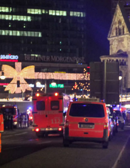 Photo of Breitscheidplatz, Berlin after attack of the Christmas market