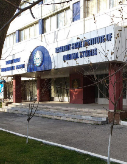 The main building of Tashkent state instituti of oriental studies. Tashkent, Mirabad district, Shakhrisabz street 25
