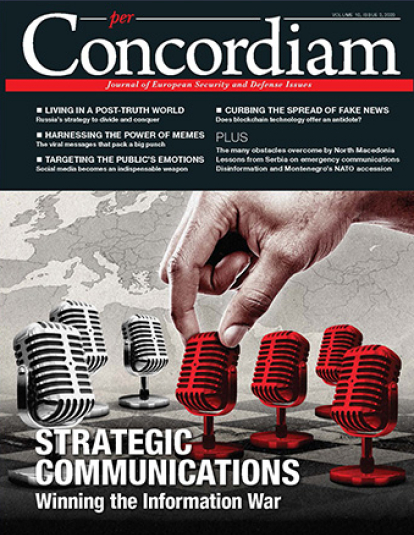 A photograph of the cover of per Concordiam Strategic Communcations Winning the Information War