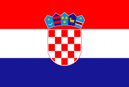 A graphic of the flag of Croatia.