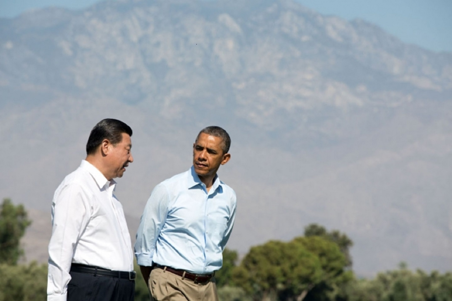 President Obama Walks With President Xi Jinping