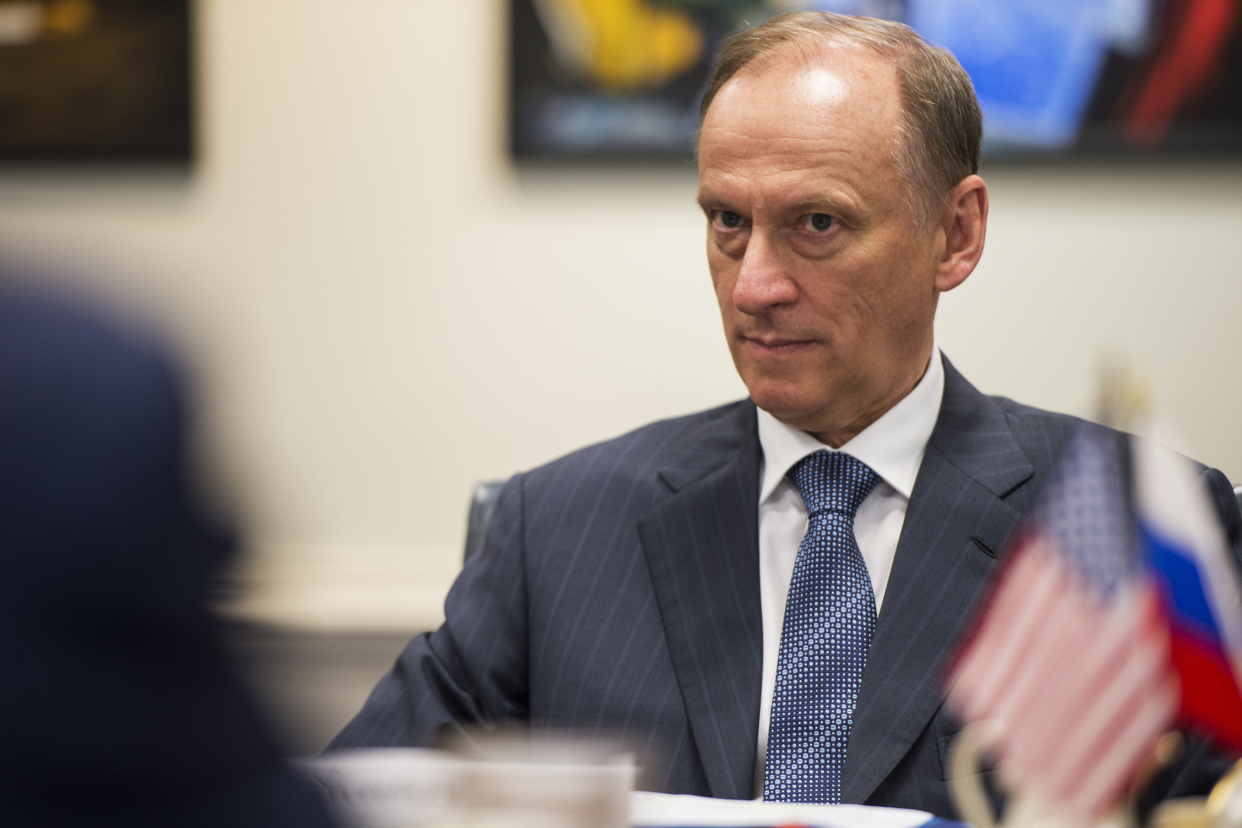 A photograph of Russia's Security Council Secretary Nikolai Patrushev at the Pentagon, May 21, 2013.
