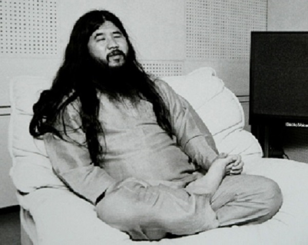 Former cult leader Shoko Asahara, accused of masterminding the 1995 Sarin gas attack on Tokyo's subway in which 12 people died and a further 5,000 were poisoned, is seen in this undated photo. A Tokyo court is expected to render its verdict on the subway attack and other crimes February 27, 2004 after a marathon 8-year-long trial.