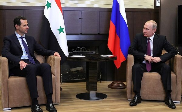Vladimir Putin with President of Syria Bashar al-Assad, May 17, 2018, Sochi.