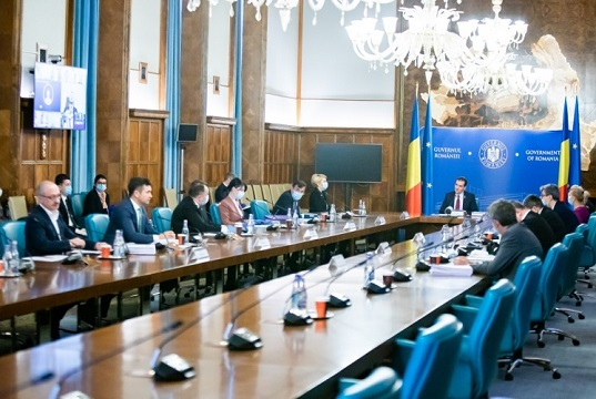 Government meeting, Bucharest, April 15, 2020