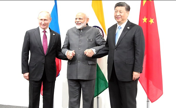 Meeting between leaders of Russia, India and China.