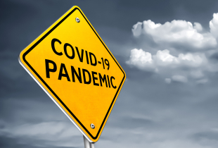 COVID 19 pandemic - road-sign message
