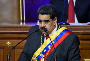 President of Venezuela Nicolas Maduro delivers his annual address to the nation at the National Constituent Assembly on January 14, 2020 in Caracas, Venezuela.