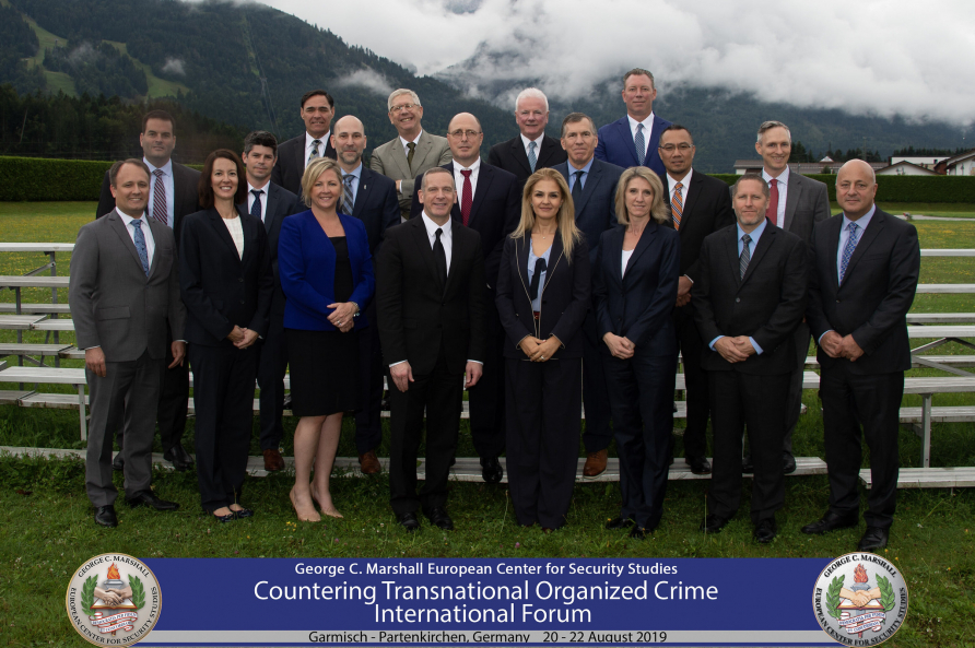 A photograph of the seminar leaders for Countering Transnational Organized Crime International Forum, August 20, 2019.